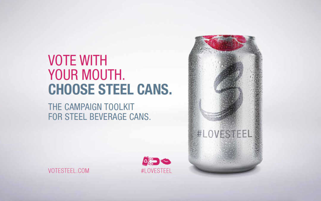 Steel is perfect for beverage containers