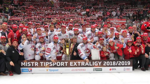 HC Oceláři Třinec získali titul mistrů republiky vledním hokeji