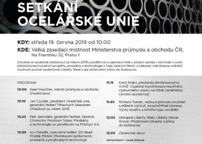 Každoroční setkání Ocelářské unie na Ministerstvu průmyslu a obchodu