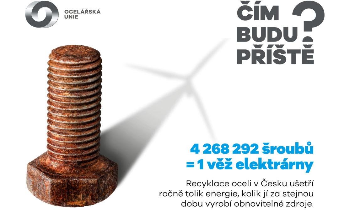 Recyklace oceli vČesku ušetří ročně tolik energie, kolik se jí za stejnou dobu vyrobí zobnovitelných zdrojů